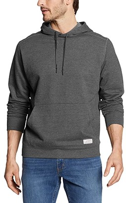 Eddie Bauer Camp Fleece Pullover Hoodie - Tall (Heather Gray) Men's Clothing