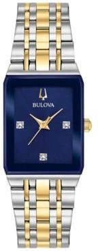 Bulova Women's Futuro Diamond Accent Two-Tone Stainless Steel Bracelet Watch 211x 32mm