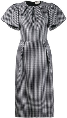 Alexander McQueen Dogtooth midi pencil dress