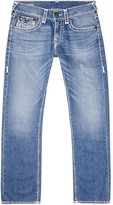 True Religion Ricky Blue Stitched Straight-leg Jeans