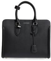 Alexander McQueen Heroine Calfskin Leather Tote - Black