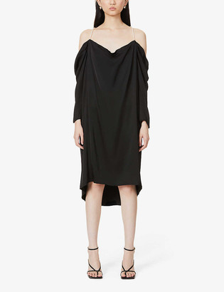 Designers Remix Emmy pearl-embellished satin mini dress