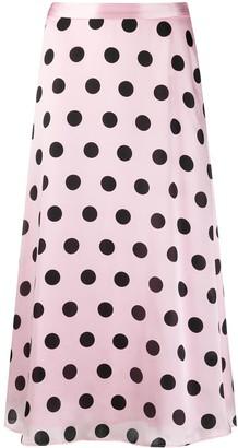 Olivia Rubin Polka-Dot Skirt