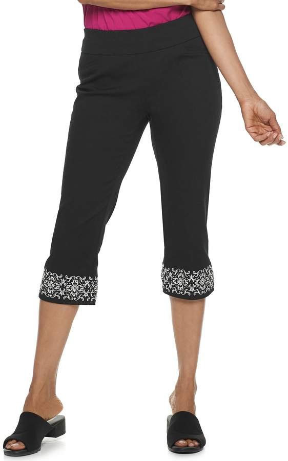 Croft & Barrow Women's Effortless Stretch Pull-On Capri Pants