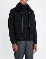 Sandro Shearling-collar Wool-blend Jacket