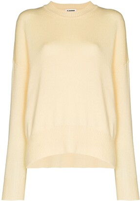 Jil Sander Oversized Ribbed Crew Neck Jumper