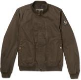 Belstaff - Pendine Waxed Stretch-cotton Canvas Bomber Jacket