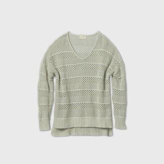 Universal Thread Women's Plus Size Crewneck Mesh Pullover Sweater - Universal ThreadTM