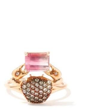 Daniela Villegas Cosquilleo Tourmaline, Sapphire &18kt Gold Ring - Rose Gold