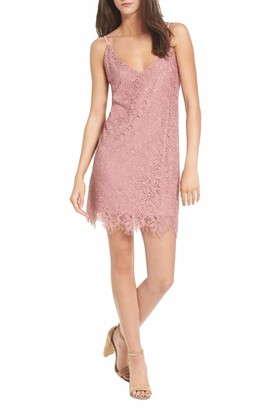 Speechless Women's Lace Slip Dress (Junior's)