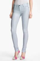 Alice + Olivia Glitter Skinny Stretch Jeans