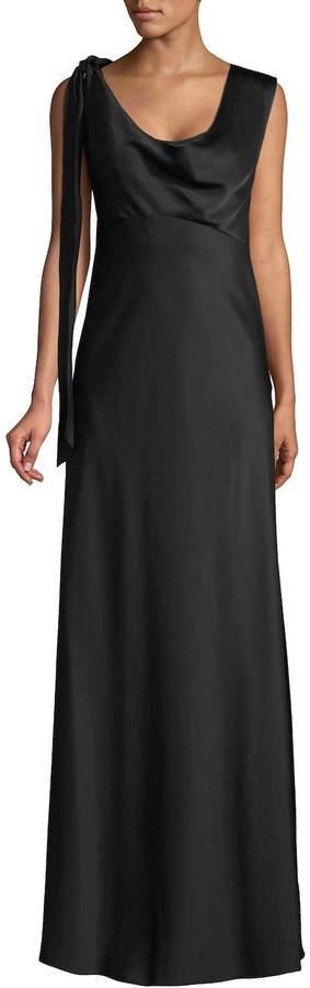 Diane von Furstenberg Women's Shoulder Knot Slip Gown