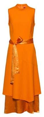 HUGO Sleeveless midi dress with double-layered skirt