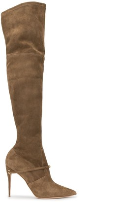 Jennifer Chamandi Over The Knee Pointed Boots