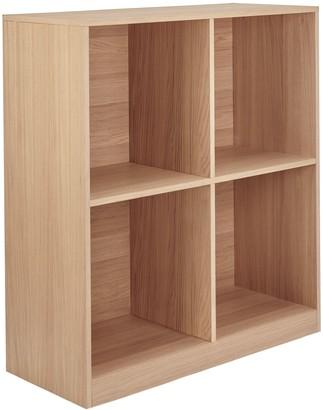 House by John Lewis Cube 2 x 2 Shelf Unit, FSC-Certified, Oak