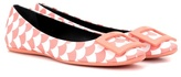 Roger Vivier Gomette Scallops leather ballerinas