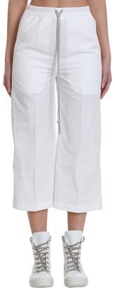 Drkshdw Drawstring Crop Pants In White Cotton