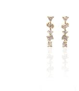 Irregular Diamond Bar Stud Earrings