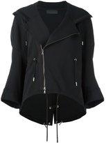 Diesel Black Gold notched lapel hoodie - women - Cotton/Polyester/Spandex/Elastane - S