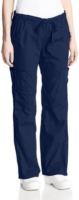 Dickies Women's Petite EDS Signature Scrubs Jr. Fit Drawstring Cargo Pant