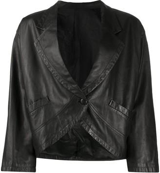 A.N.G.E.L.O. Vintage Cult 1980s Plunging Neck Leather Jacket