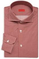 Isaia Slim Fit Circle Print Dress Shirt