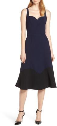 Harlyn Colorblock Hem Cocktail Dress