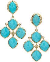 Elizabeth Showers Simone Turquoise & Diamond Chandelier Earrings