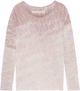 Raquel Allegra Tie-dyed Cotton-blend Jersey Top - Blush