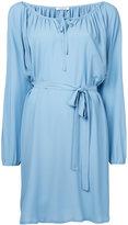 P.A.R.O.S.H. long sleeve belted dress - women - Silk/Acetate - XS