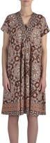 Jump Short Sleeve Moroccan Print Dress