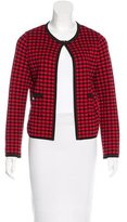M Missoni Checkered Long Sleeve Cardigan