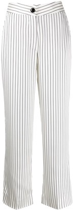 BLAZÉ MILANO Straight Fit Striped Pattern Trousers