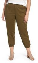 Sejour Plus Size Women's Twill Jogger Pants