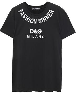 Dolce & Gabbana Printed Cotton-jersey T-shirt