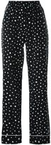 Dolce & Gabbana polka dot print pyjama trousers - women - Silk/Spandex/Elastane - 40