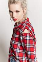 Forever 21 Button-Up Plaid Shirt