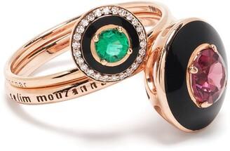 Selim Mouzannar 18kt rose gold Mina ring set