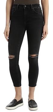 Mavi Jeans Tess Cropped Vintage Jeans in Dark Smoke