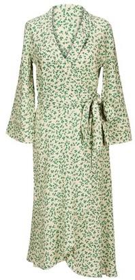 Ganni Printed long wrap dress