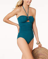 Kate Spade Bandeau Tummy-Control One- Piece Swimsuit