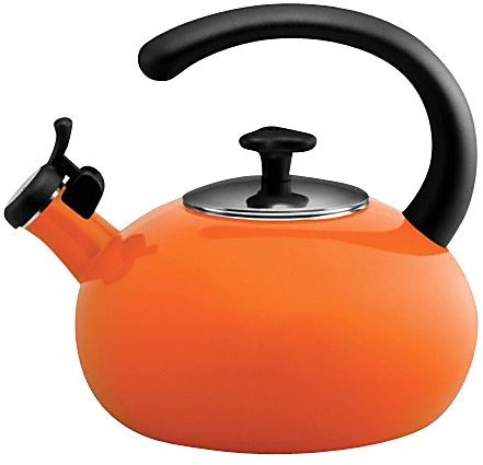 Rachael Ray 2 Quart Porcelain Enamel on Steel Curve Teakettle