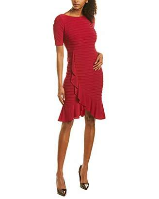 Adrianna Papell Women's Pintucked Ruffle Dress