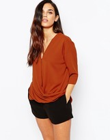 AX Paris Wrap Front Blouse