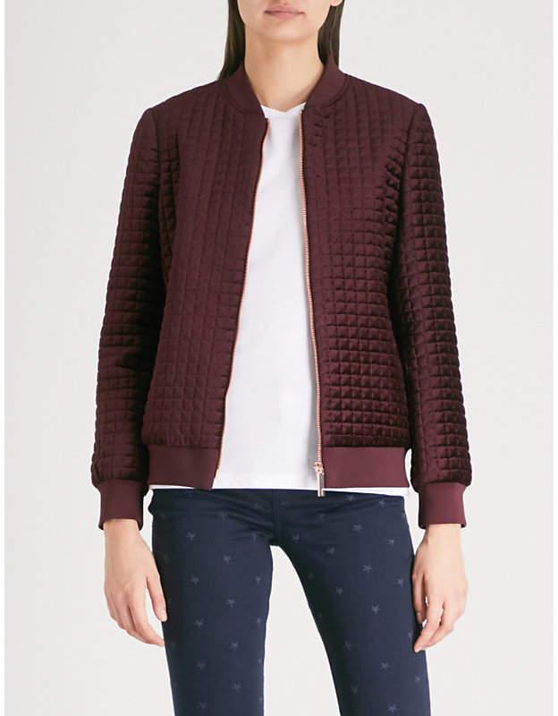 b4d77681b Quilted velvet bomber jacket
