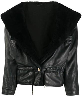A.N.G.E.L.O. Vintage Cult 1980s Wide Lapels Leather Jacket