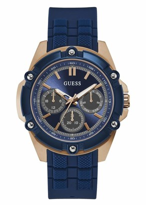 GUESS Men's Analogue Quartz Watch with Silicone Strap W1302G4