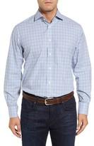Thomas Dean Men's Regular Fit Dobby Check Sport Shirt
