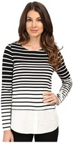 Calvin Klein Variegated Stripe Twofer Top