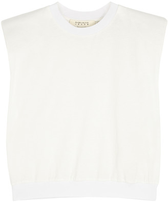 Alice + Olivia Kendrick white jersey tank